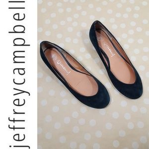 JEFFREY CAMPBELL Black Suede Lakes Flats